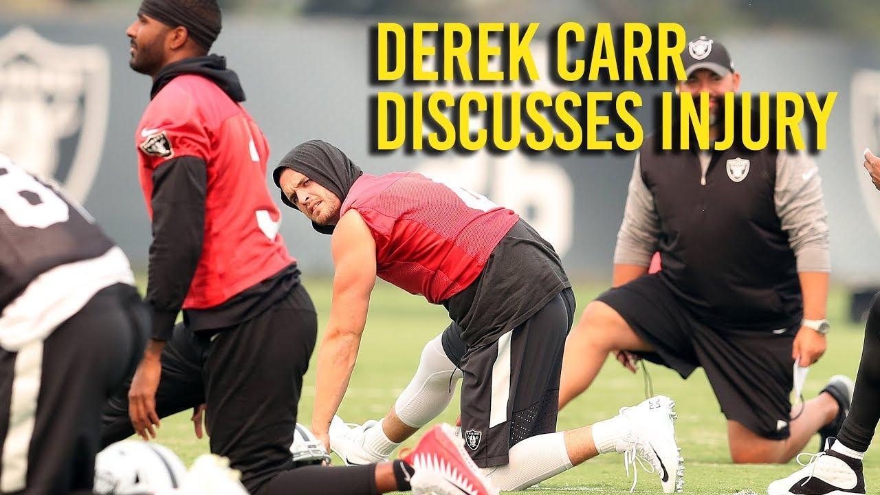 Raiders' Derek Carr discusses injury, return
