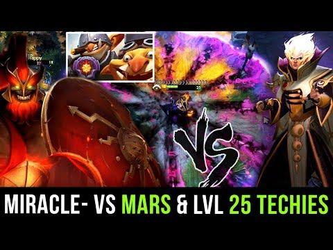 Miracle- Invoker vs The Worst Nightmare of Dota: Techies LVL 25 Dotaplus + Mars - Dota 2 Gameplay thumbnail