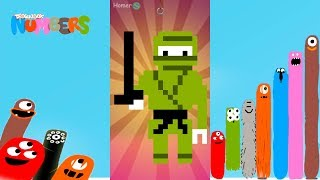 Fun Ninja Part 1 Puzzles - DragonBox: Numbers (iPad, iPhone, Android). Fun game for kids.