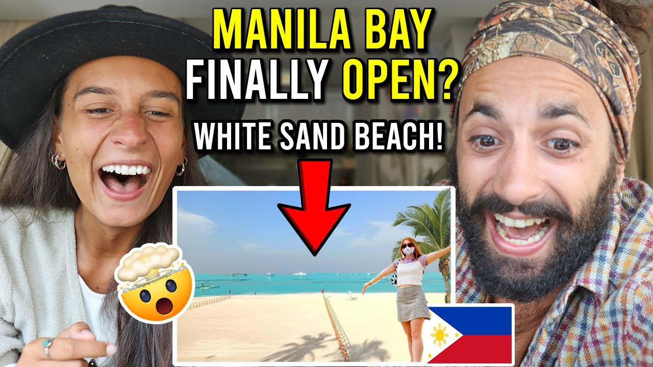 INCREDIBLE MANILA BAY White Sand Beach OPENING!! (AMAZED REACTION!)