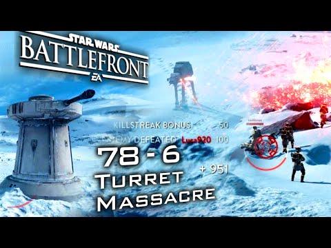 Star Wars Battlefront:  78 KILL ROUND - Overpowered Turret Massacre [60fps]