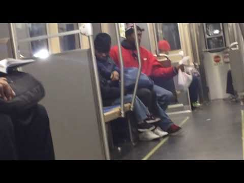 What is this Man on? Singing on the Green line El Train - Chicago