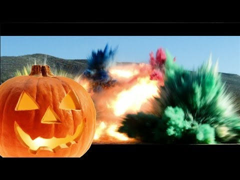 Exploding Pumpkins with C4 and Det Cord