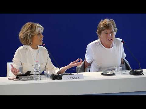 Jane Fonda and Robert Redford press conference Venice Film Festival 2017