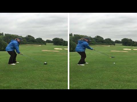Woman Golfer Shot Fail