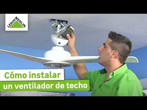 Instalar un ventilador de techo (Leroy Merlin)