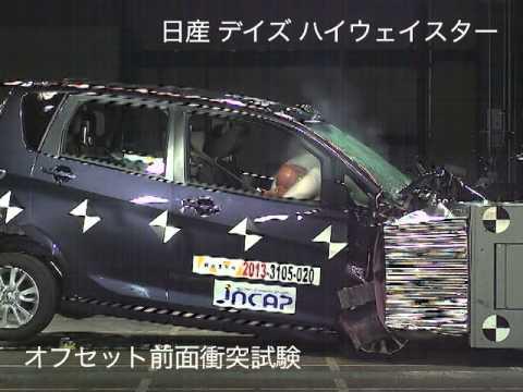 自動車アセスメント:日産デイズハイウェイスター:オフセット前面衝突試験