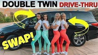 Double TWIN SWAP Drive Thru Prank Ft The MERRELL TWINS!
