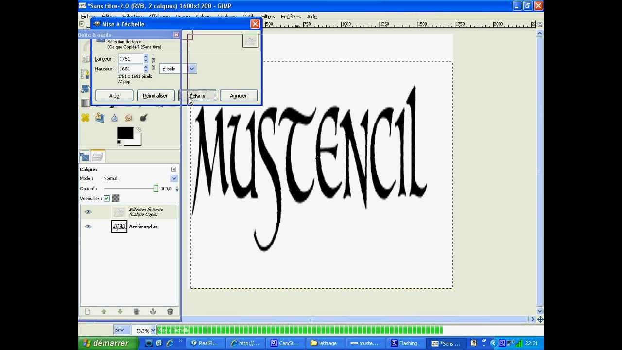 how to make stencil letters in gimp - YouTube