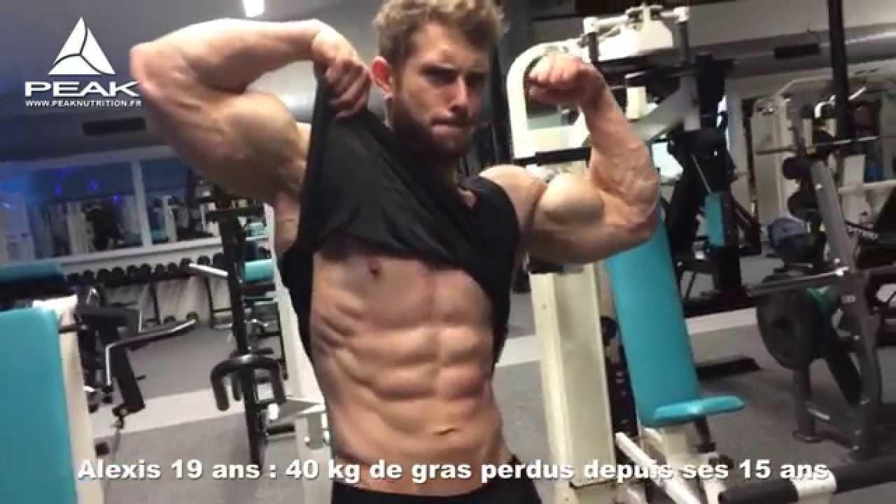 Teen body builder biceps