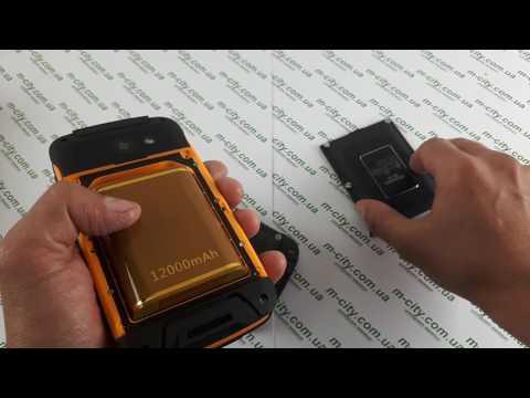 Купить на 12 000 MAh  защищенный смартфон Jeep F605 Pro Black и его детальный видео обзор Mega Power
