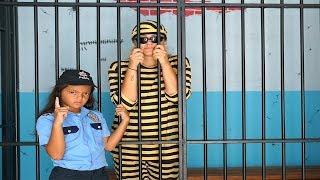 Masal, Friends and Öykü pretend play police - funny kids video