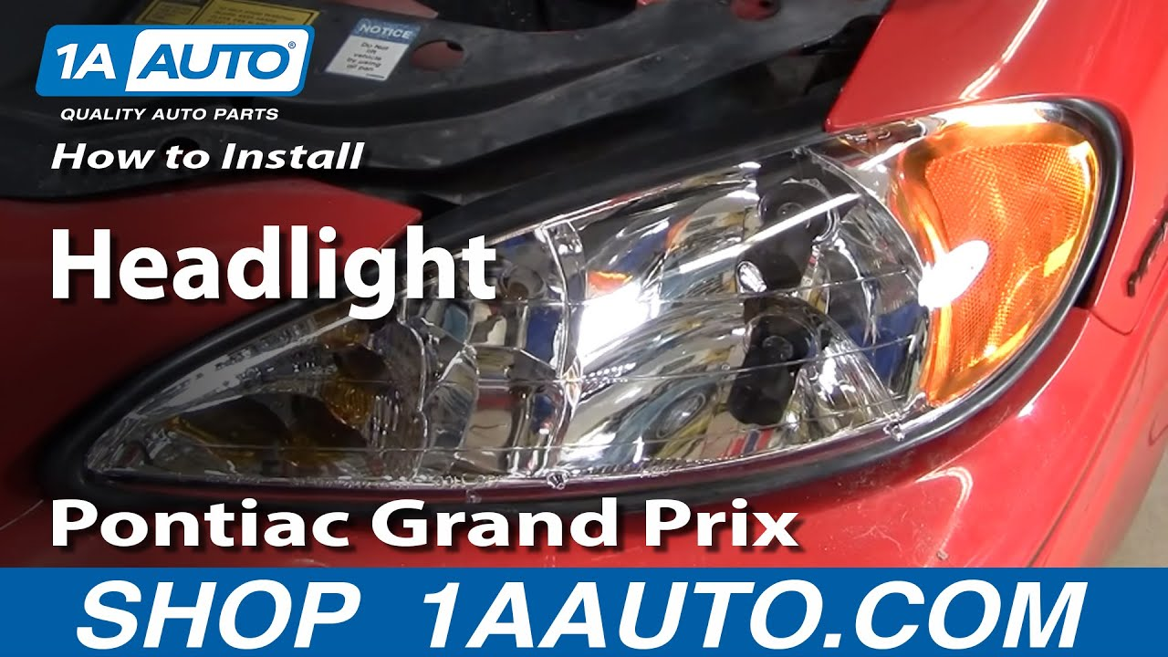 how to install replace headlight pontiac grand am 99 06 1aauto com rh youtube com headlight socket wiring diagram 2001 dodge ram 1500 headlight wiring  [ 1280 x 720 Pixel ]