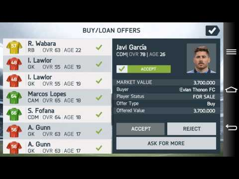 Fifa 14 Android Manager Mode Manchester City Part 1