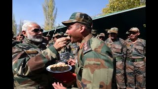 In Graphics: In Pictures: PM Modi Celebrates Diwali With Soldiers In Jammu and Kashmir's G
