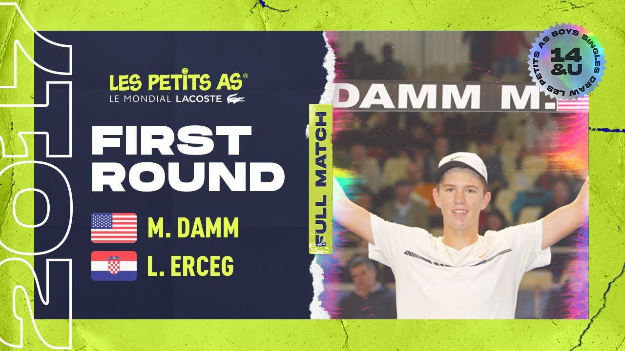 923ceb5f8a3c Martin DAMM (USA) vs Lovre ERCEG (CRO) - 1st round main draw - Les Petits  As 2017