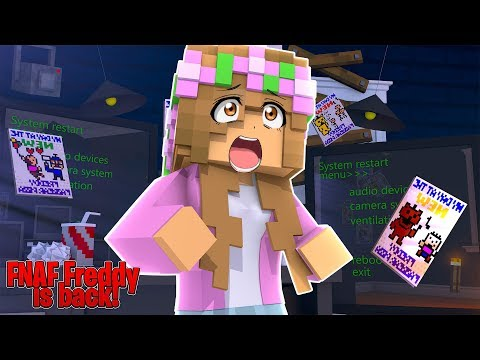 FREDDY IS BACK .... NIGHT #1 !!| Minecraft FNAF w/ Little Kelly (custom Roleplay) thumbnail