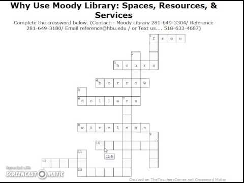 Why Use Moody  Across Answers for Crossword Puzzle
