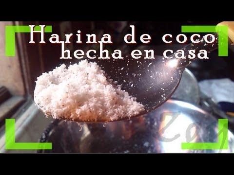 Harina de coco casera