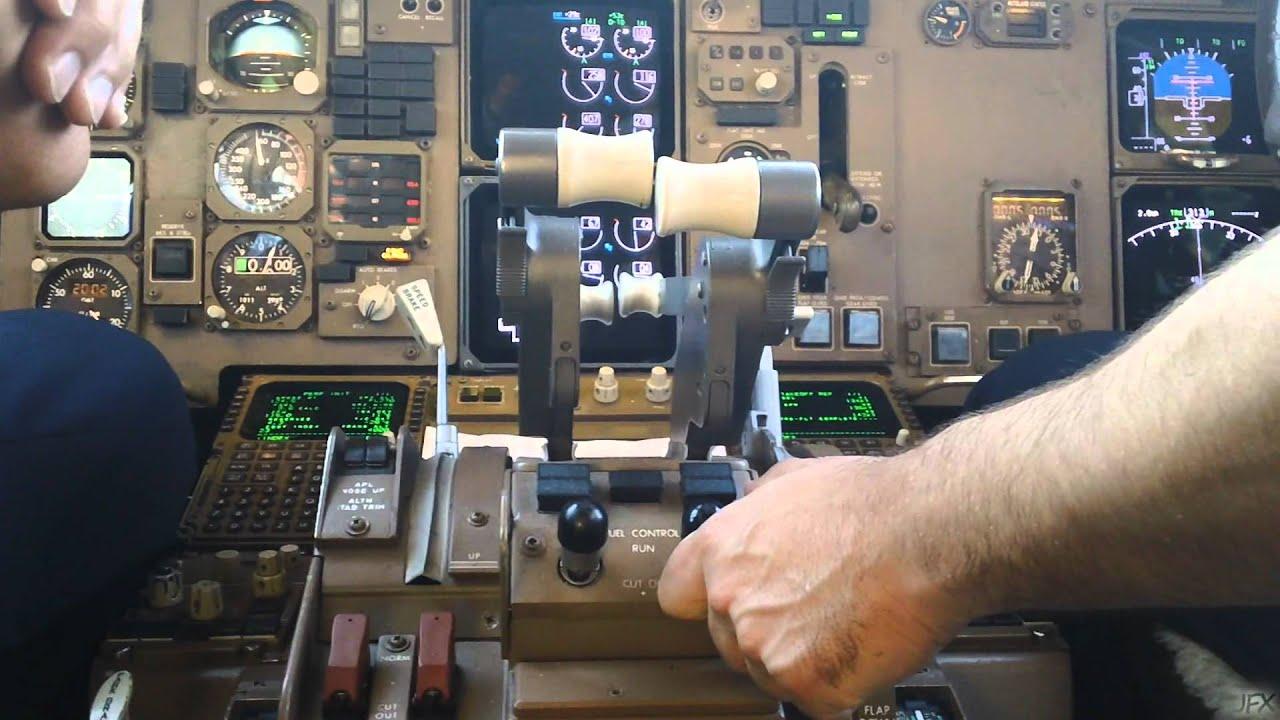 Cockpit Video Boeing 767 300 Pushback Amp Start Up In