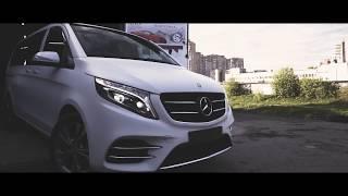 Mercedes V-class. Оклейка авто защитной матовой полиуретановой пленкой в СПб