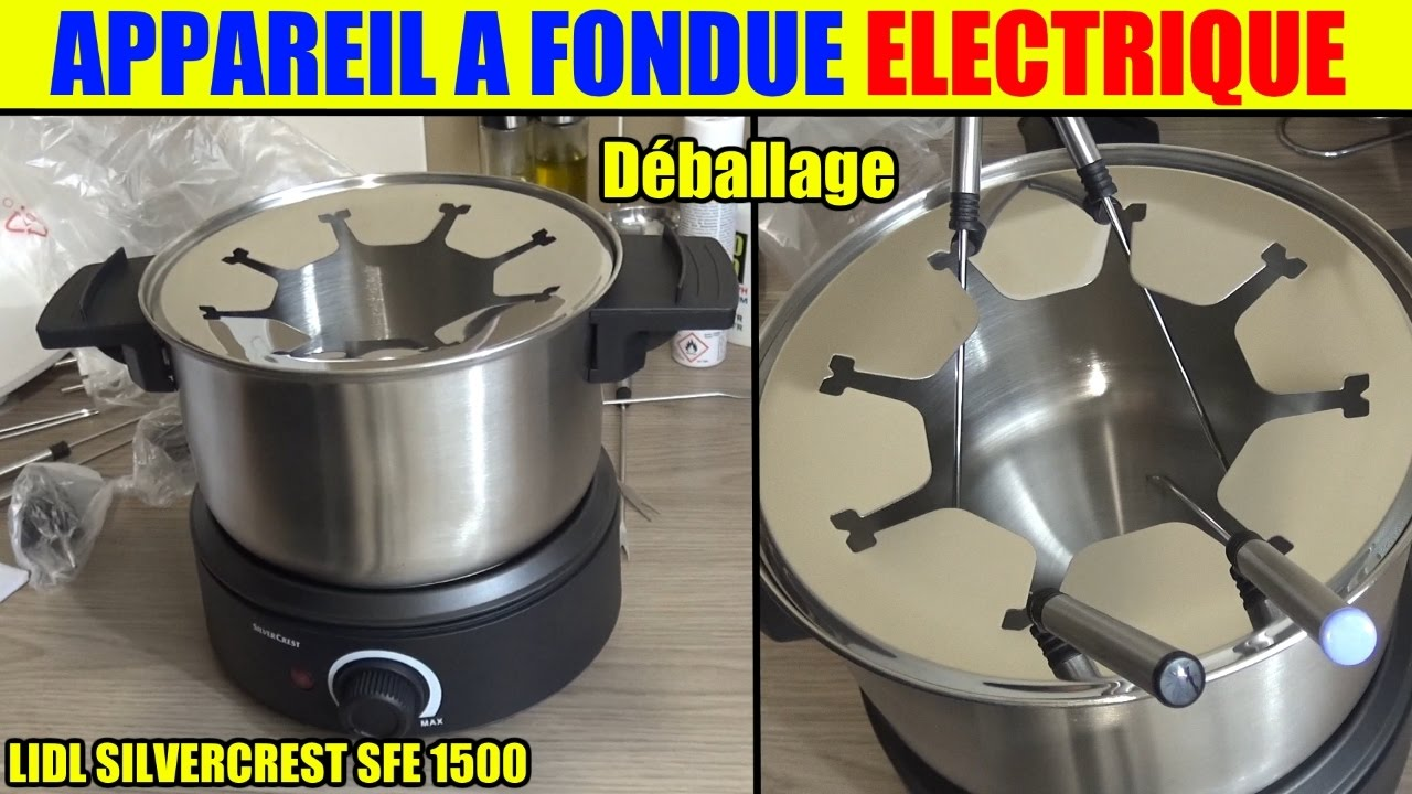 appareil fondue lidl silvercrest sfe 1500w deballage fondue set unboxing youtube. Black Bedroom Furniture Sets. Home Design Ideas