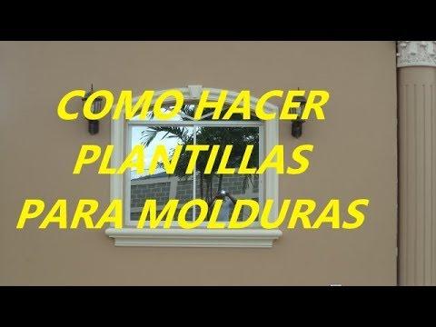 COMO HACER PLANTILLAS PARA MOLDURAS DE CEMENTO O CONCRETO, MUY F�CIL!
