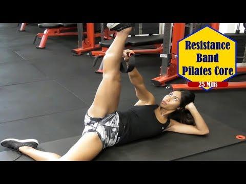 resistance band pilates ab workout  a quick resistance