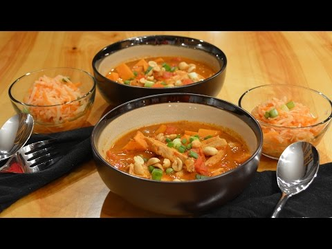 Spicy Peanut and Sweet Potato Soup