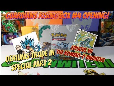 Pokemon Guardians Rising Box #4 OPENING! (Deriums Bulk Trade In Special Part 2!/ Kommo-o Ep.VII!)