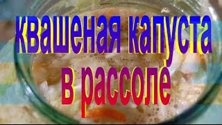 Вкусная ХРУСТЯЩАЯ КВАШЕНАЯ КАПУСТА  в рассоле. Рецепт приготовления капусты.(Всевозможные изысканные рецепты домашних умельцев и не только.... Подписка + Лайк. салаты,соус,рецепты,реце..., 2014-09-17T20:08:45.000Z)