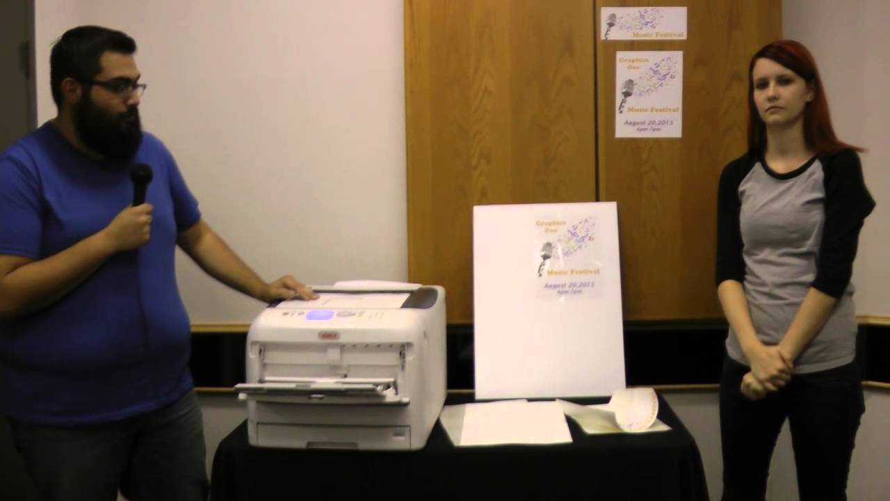 5c9a95180 OKI C831-TS LED Laser Printer -- GO PolySign Product Demo - YouTube