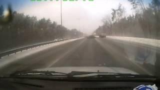 ДТП на автомагистрали - дорога как стекло