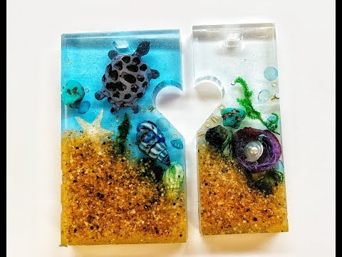 Learn to make these beautiful resin Ocean Treasures Pendants