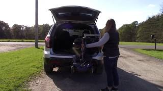 Multi-Lift PIR Scooter/Wheelchair Lift Loading into Ford Explorer 2011-2019