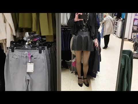 Crossdresser in public - Sainsburys