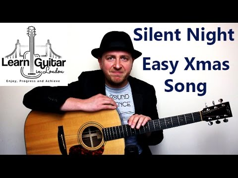 Silent Night - Easy Beginners Guitar Lesson - Christmas Song