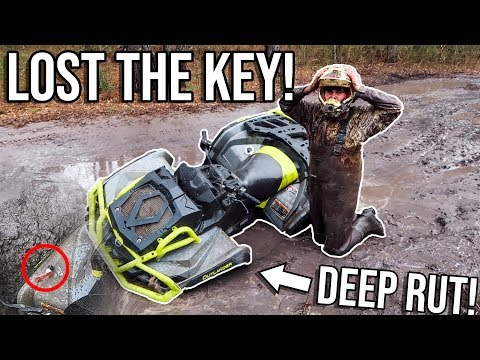 My KEY Fell Off In A MUD HOLE! *WE COULDNT FIND IT!*