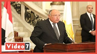 وزير الخارجية يعلن عن تحركات مصرية جديدة بعد فشل مفاوضات سد النهضة