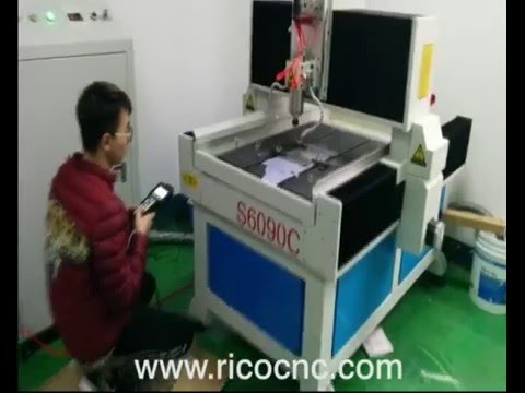S6090 Granite Marble Stone Carving CNC Router Cutting Aluminum