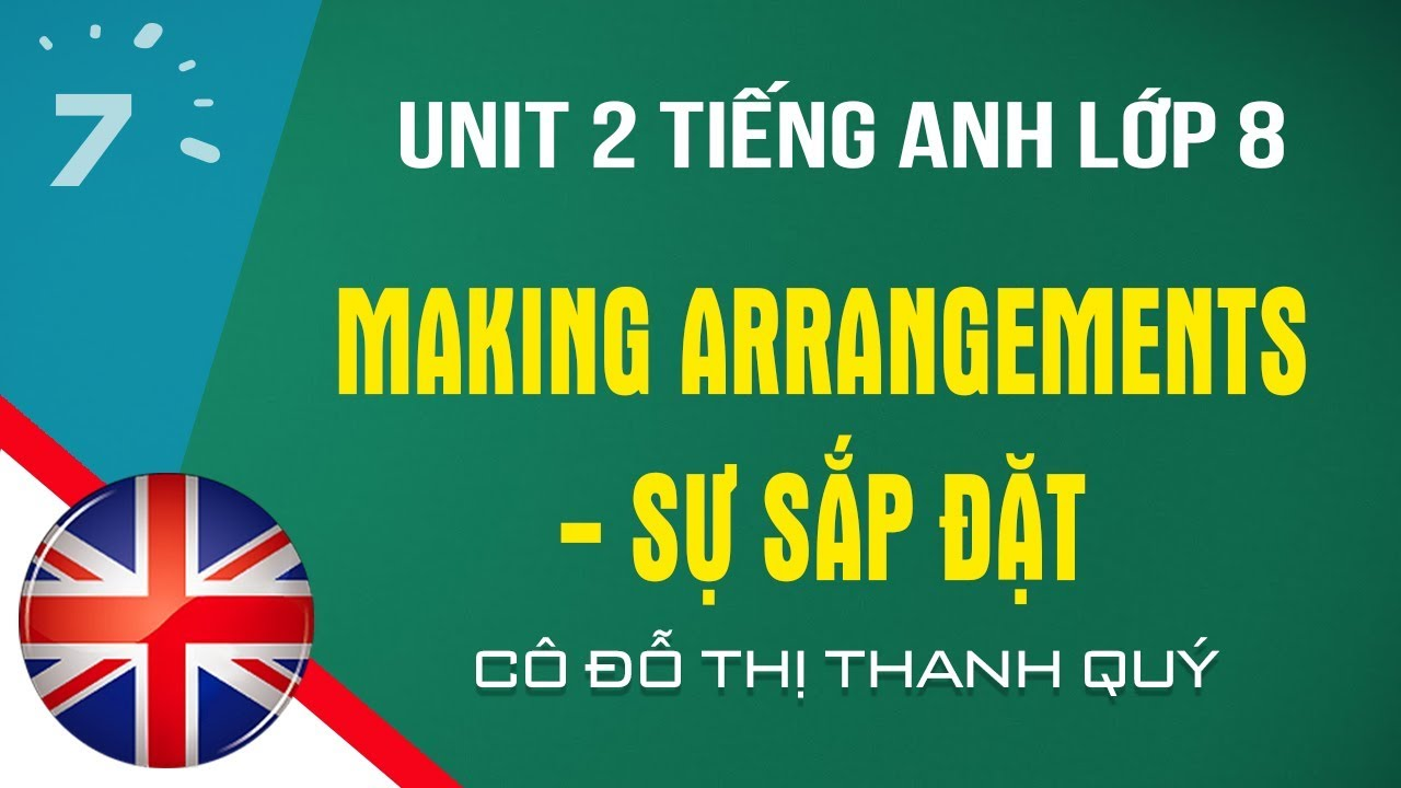 Unit 2 Tiếng Anh lớp 8: Making Arrangements – Sự sắp đặt |HỌC247