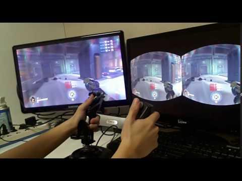 overwatch VR D.VA with flight sticks