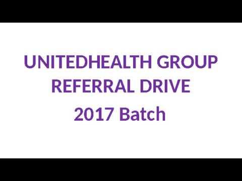 2017 BATCH FRESHERS JOBS - UNITED HEALTH GROUP