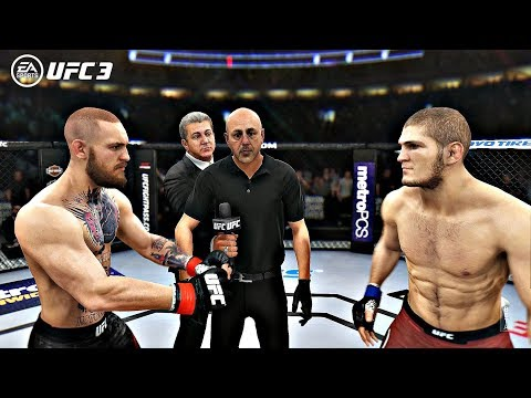 EA Sports UFC 3 Fights - Conor McGregor vs Khabib Nurmagomedov | PS4 Pro Gameplay