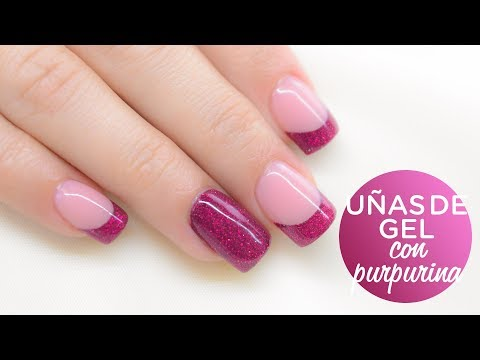 Uñas de gel decoradas con purpurina | Nailart Glitter | Manicura24