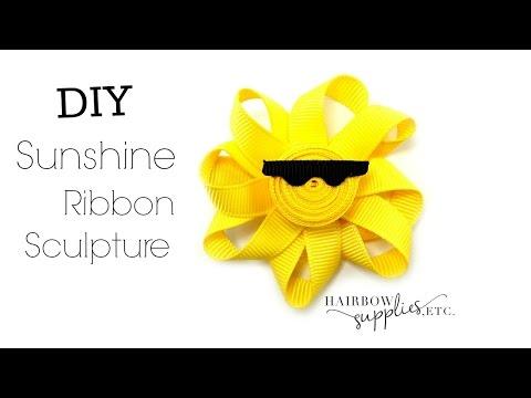 Sun Ribbon Sculpture Tutorial - DIY Hair Clippie - Hairbow Supplies, Etc.