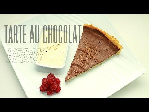 tarte-au-chocolat-&-creme-anglaise-vegan-|-dessert-facile-végétalien