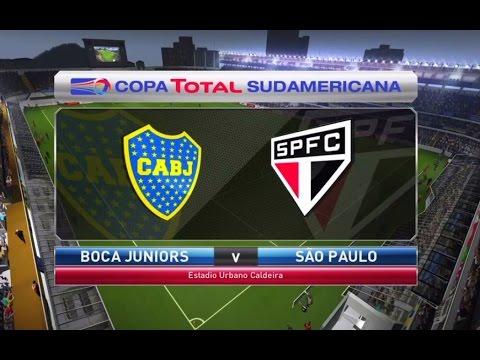 BOCA JUNIORS vs. SAO PAULO - FULL MATCH GAMEPLAY - PES 2016