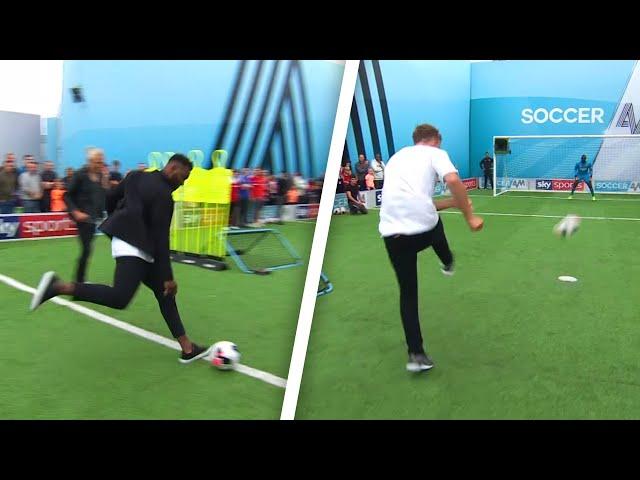 Darren Bent, Roman Kemp and Vick Hope   Soccer AM Pro AM