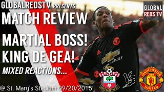 oh anthony martial   southampton 2 3 manchester united   match review